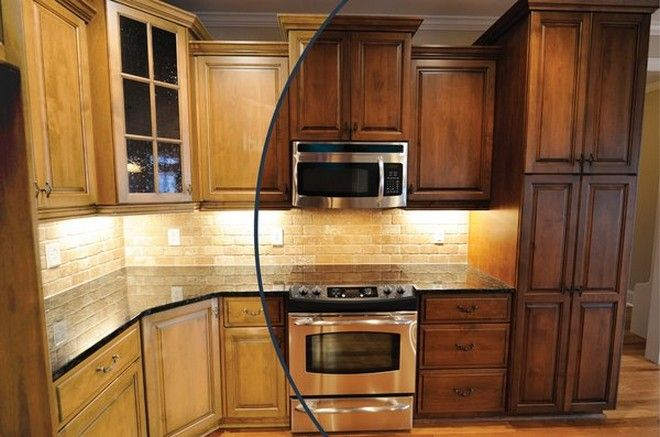 Refinish Oak Kitchen Cabinets Refinishing Golden Oak Kitchen Cabinets